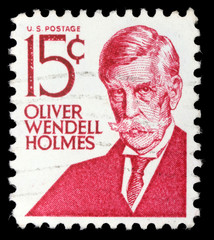 Stamp printed in the USA, shows Oliver W. Holmes, Jr.