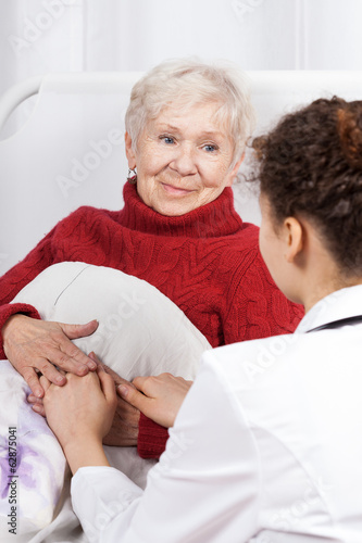 Nurse taking care of patient