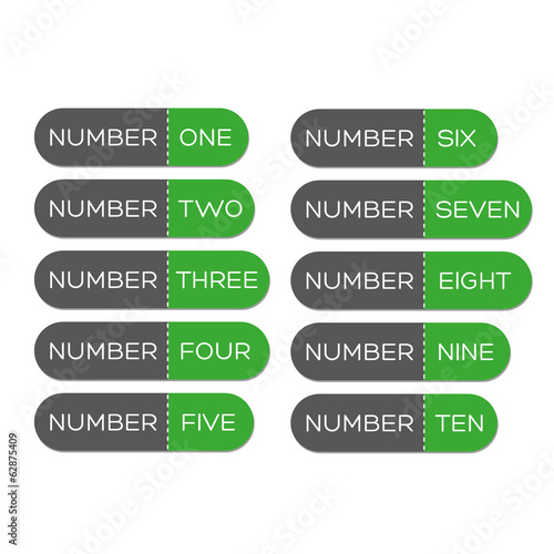 Number set button green