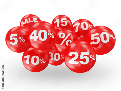 Group of Discount Icons isolated on white background
