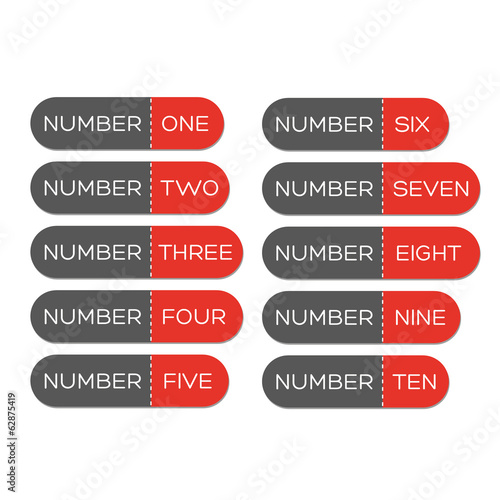 Number set button red