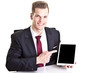 Geschäftsmann mit Tablet-PC