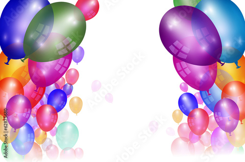 Flying Balloon background