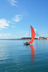Sailin in Split port