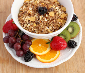 Muesli cereal with fruit