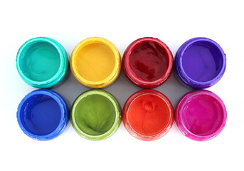 Rainbow paint pots