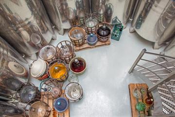 Indoor of wine manufacture in Slovakia