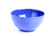 Blue bowls isoleted.