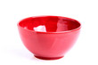 Red bowls isoleted.