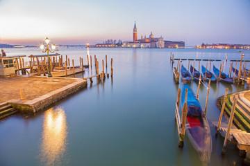 Venice - Boats and gondolas and San Giorgio Maggiore