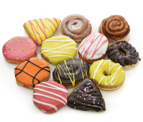Collection Of  Colorful Donuts