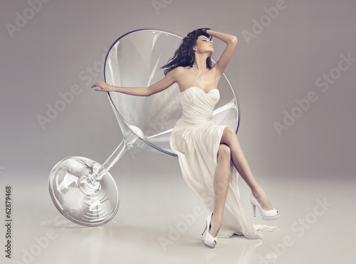 Fabulous woman in a martini glass