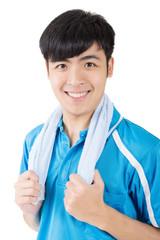 Asian sport man