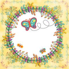 Illustration Layout Butterfly