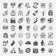 doodle eco icons