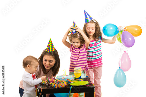 Family celebrate first year of boy