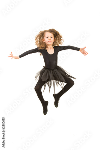 Dancer girl in the air