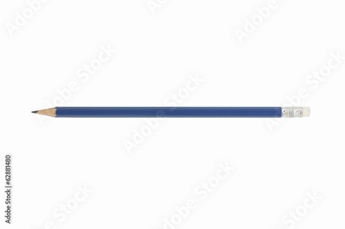Navy pencil isolated on white background