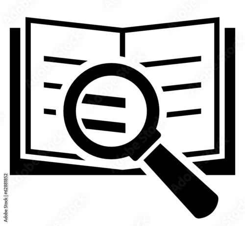 Book search vector icon