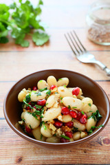 beans with cilantro and pomegranate