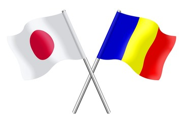 Flags: Japan and Romania