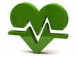 Green heart rate icon