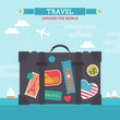 Flat modern design concept for travel and tourism