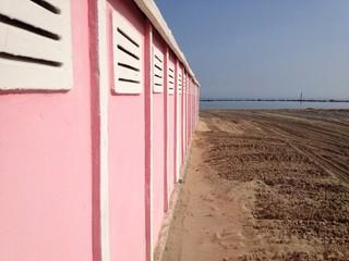 casotti sulla spiaggia
