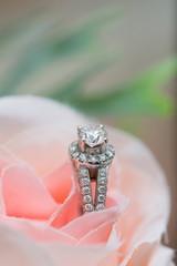 Wedding ring - Stock Image