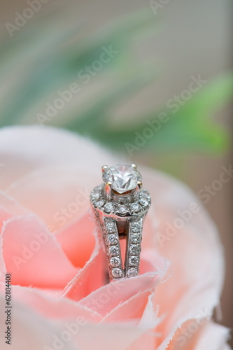 Wedding ring - Stock Image