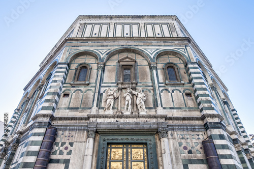 The Battistero di San Giovanni in Florence, Italy