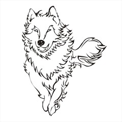 wolf run tattoo vector