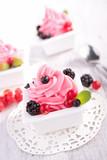 berry ice cream, frozen yogurt
