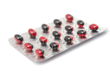 pack of pills isolated