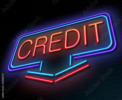 Credit concept.