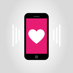 smartphone - heart