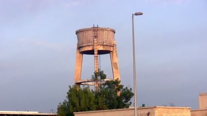 Old water tower of cement in the southern city of Jeddah