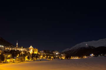 Nachtaufnahme Sankt Moritz