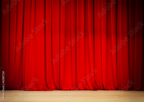red curtain of theatre stage