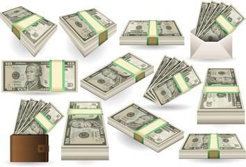 Set of Ten Dollars Banknotes