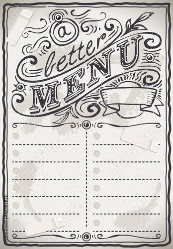Vintage Graphic Page Menu for Restaurant