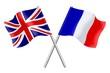 Drapeaux : Grande Bretagne et France - 62888244