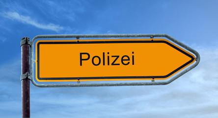 Strassenschild 8 - Polizei