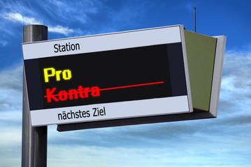 Anzeigetafel 3 - Pro - Kontra