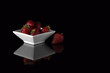 strawberry black food natural still life light bowl