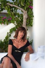 Donna in giardino