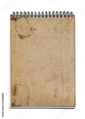 Grunge spiral close notebook
