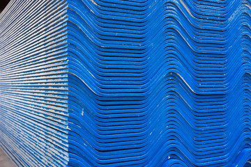 The blue roof tiles