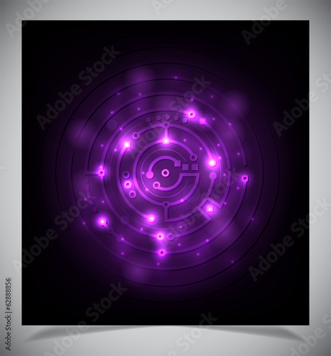 Smooth colorful abstract techno background.