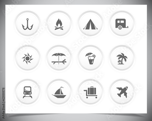 Vector vacation Icons